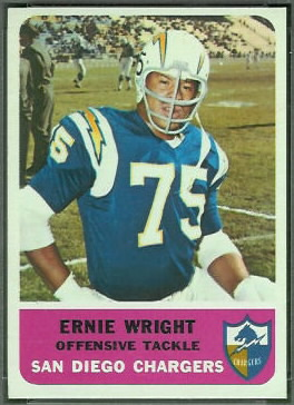 Ernie Wright 1962 Fleer football card