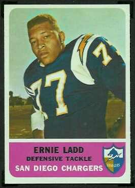 Ernie Ladd 1962 Fleer football card