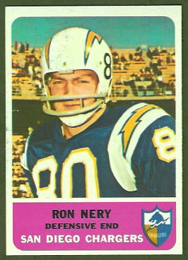 Ron Nery 1962 Fleer football card