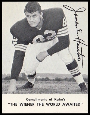 Jim Houston 1962 Kahns football card