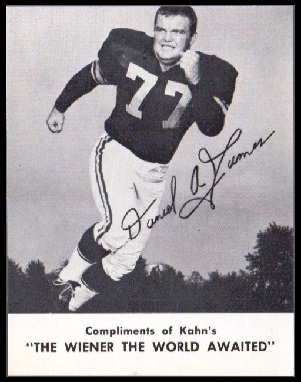 Dan James 1962 Kahns football card