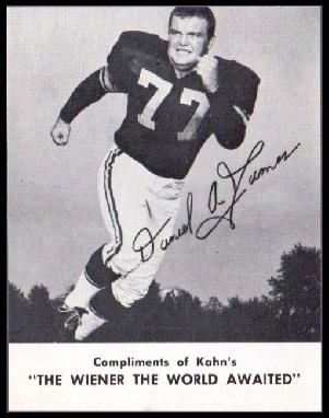 Dan James 1962 Kahns football card