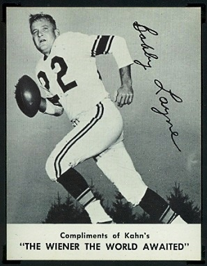 Bobby Layne 1962 Kahns football card