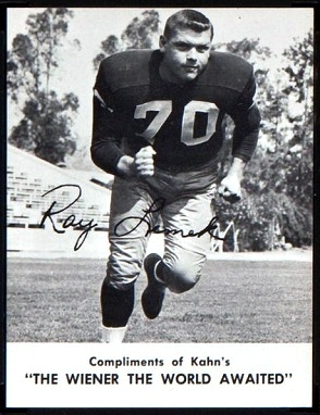 Ray Lemek 1962 Kahns football card