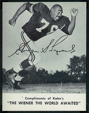 Gene Lipscomb 1962 Kahns football card