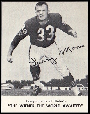 Larry Morris 1962 Kahns football card