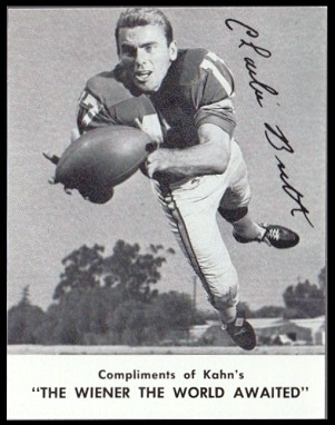 Charlie Britt 1962 Kahns football card