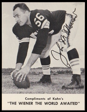 John Morrow 1962 Kahns football card