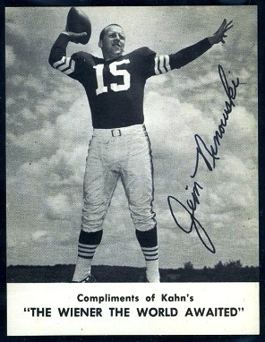 Jim Ninowski 1962 Kahns football card