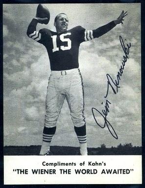 Jim Ninowski 1962 Kahns football card