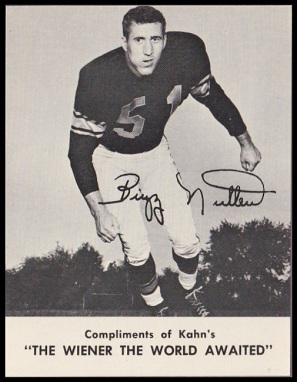 Buzz Nutter 1962 Kahns football card
