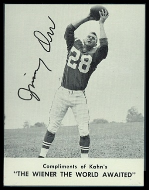 Jimmy Orr 1962 Kahns football card