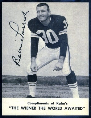 Bernie Parrish 1962 Kahns football card