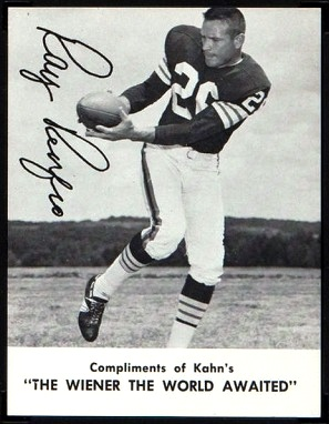 Ray Renfro 1962 Kahns football card