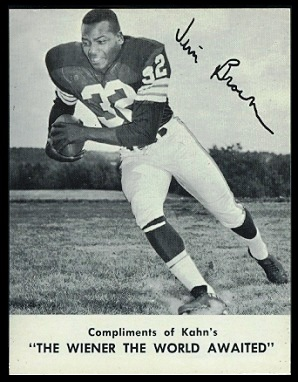 Jim Brown 1962 Kahns football card