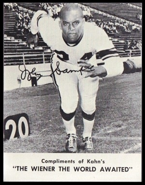 John Sample 1962 Kahns football card