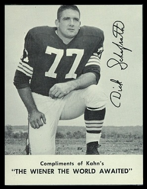 Dick Schafrath 1962 Kahns football card