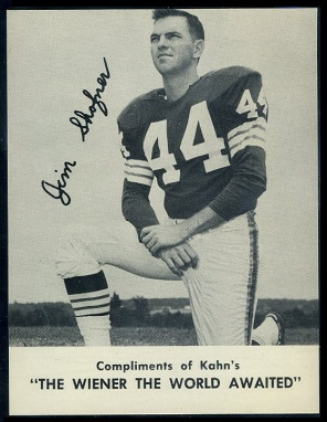 Jim Shofner 1962 Kahns football card