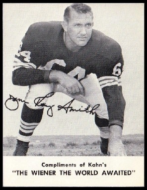 Jim Ray Smith 1962 Kahns football card