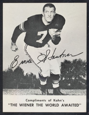 Ernie Stautner 1962 Kahns football card