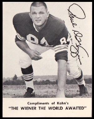 Paul Wiggin 1962 Kahns football card