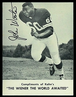 John Wooten 1962 Kahns football card