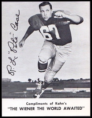 Pete Case 1962 Kahns football card