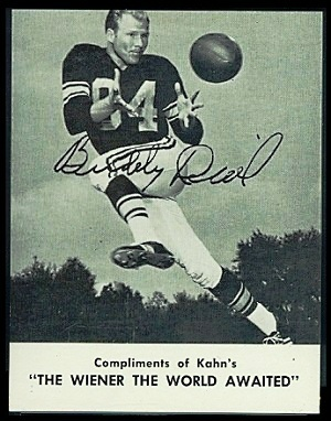 Buddy Dial 1962 Kahns football card