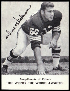 Gene Hickerson 1962 Kahns football card