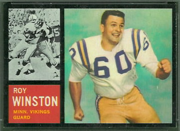 Roy Winston 1962 Topps football card