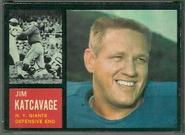 Jim Katcavage 1962 Topps football card