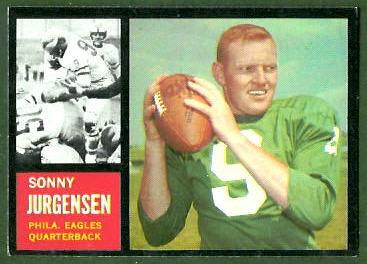 Sonny Jurgensen 1962 Topps football card