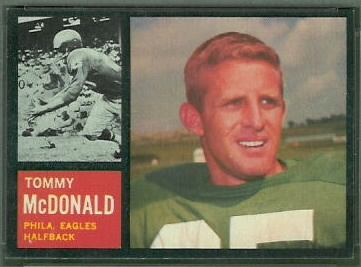 Tommy McDonald 1962 Topps football card