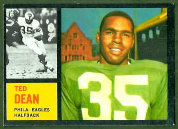 Ted Dean 1962 Topps football card