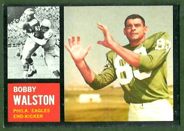 Bobby Walston 1962 Topps football card