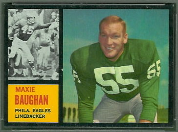 Maxie Baughan 1962 Topps football card
