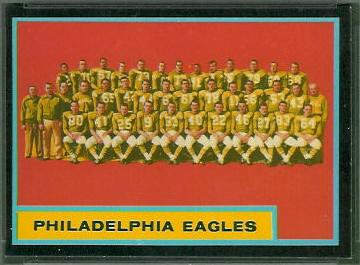 Philadelphia Eagles Team 1962 Topps football card