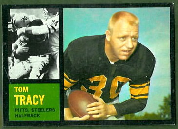 Tom Tracy 1962 Topps football card