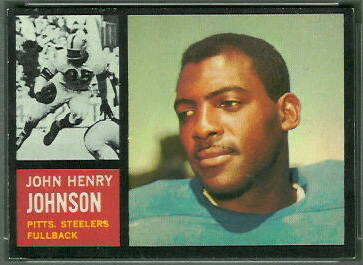 John Henry Johnson 1962 Topps football card
