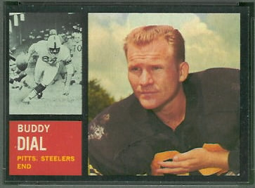 Buddy Dial 1962 Topps football card