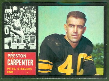 Preston Carpenter 1962 Topps football card