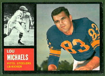 Lou Michaels 1962 Topps football card