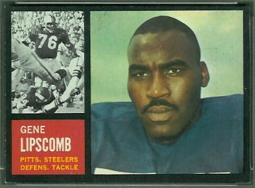 Gene Lipscomb 1962 Topps football card