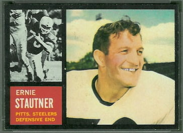 Ernie Stautner 1962 Topps football card