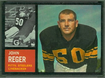 John Reger 1962 Topps football card