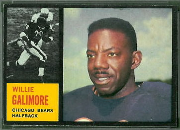 Willie Galimore 1962 Topps football card