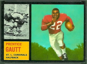 Prentice Gautt 1962 Topps football card