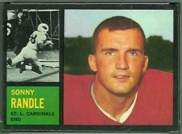Sonny Randle 1962 Topps football card
