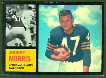 Johnny Morris 1962 Topps football card