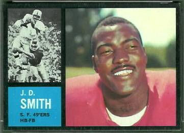 J.D. Smith 1962 Topps football card